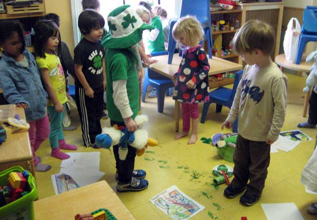 Kids in art classroom