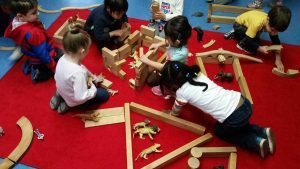 Kids Working in Activity Room